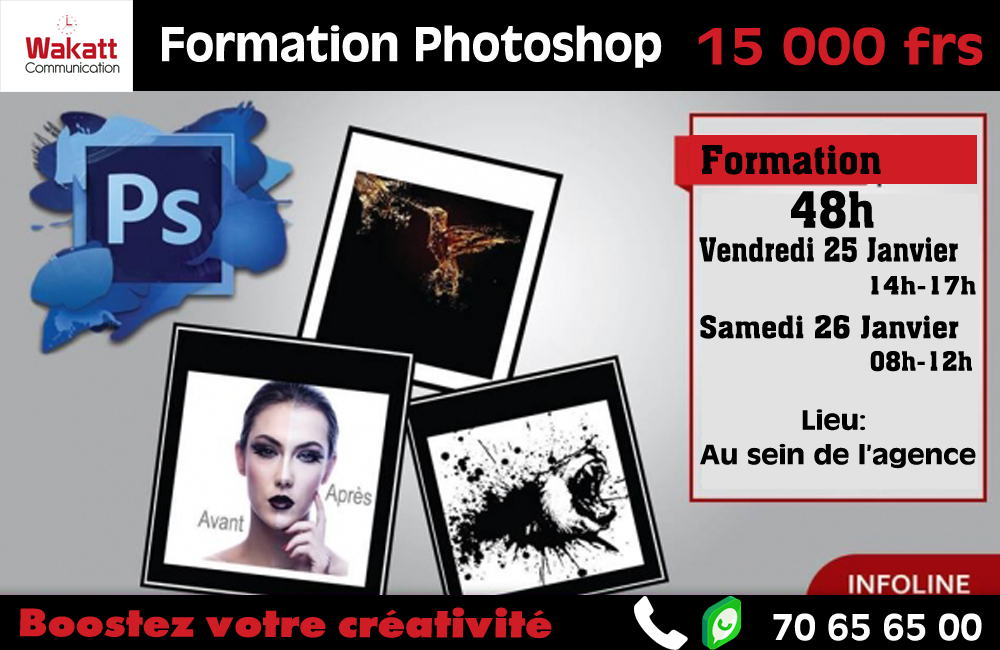 Formation en infographie (Photoshop)  Session de Janvier 2019