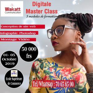 Digital Master Class : 01-05 Octobre 2019
