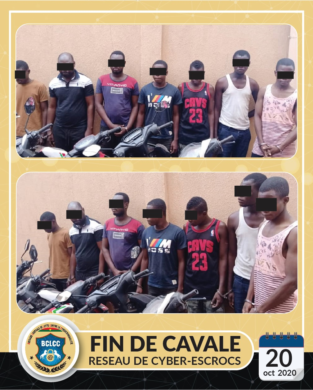 Cybercriminalité : deux réseaux de cyber escrocs mis aux arrêts par la Brigade Centrale de Lutte Contre la Cybercriminalité.