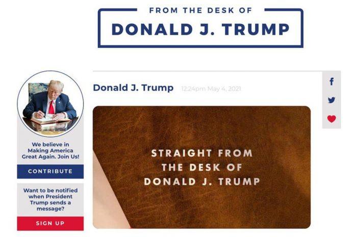 Banni de Facebook et twitter , Donald Trump